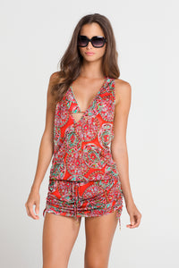 AZULEJOS DEL MAR - T Back Mini Dress • Multicolor