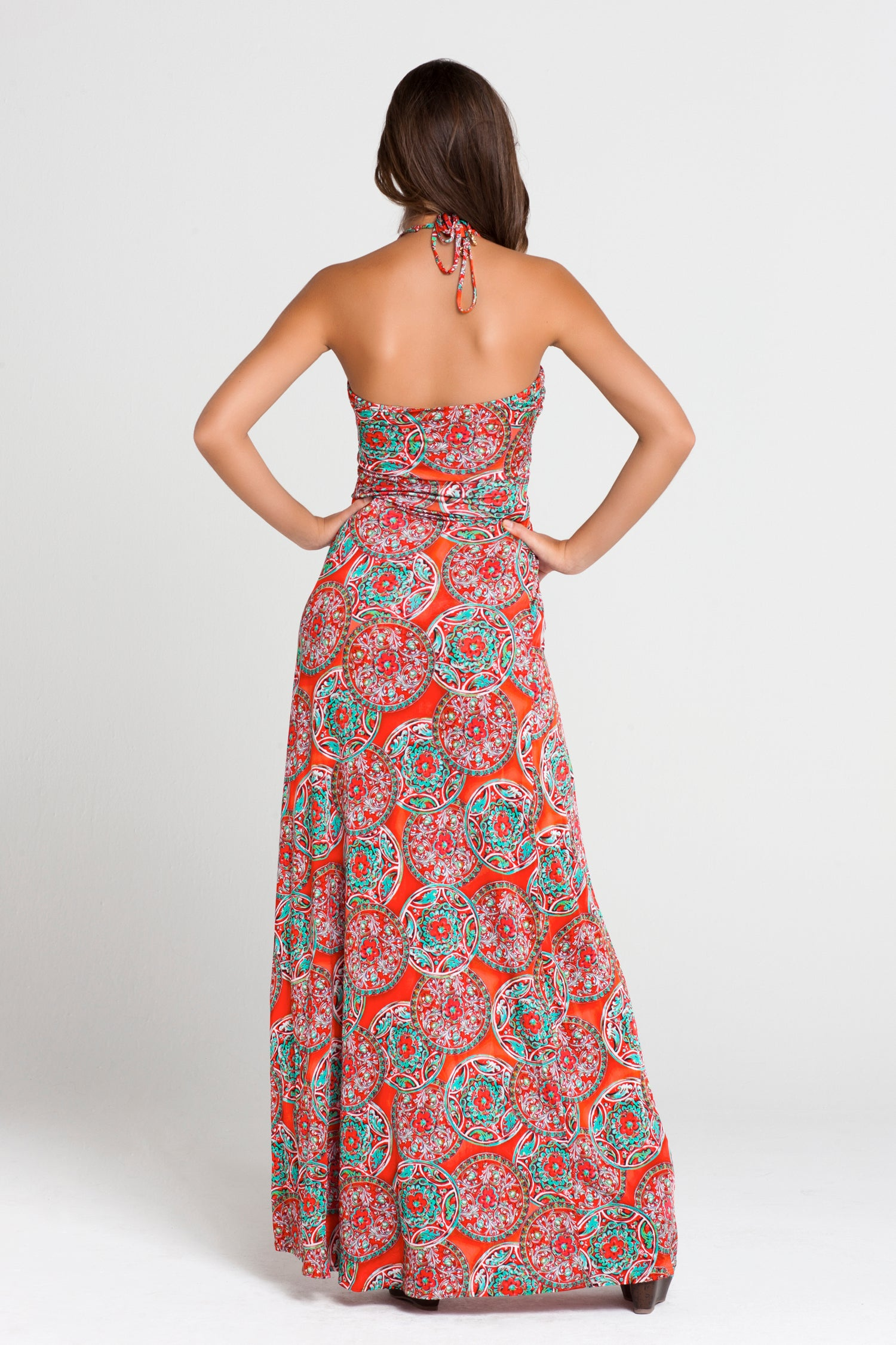 "AZULEJOS DEL MAR - ""cocktail Hour"" Maxi Dress • Multicolor"