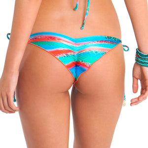 MERMAID GLITTER - Wavey Ruched Back Brazilian Tie Side Bottom