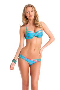 MERMAID GLITTER - Underwire Push Up Bandeau Top & Hot Buns Bottom • Multicolor