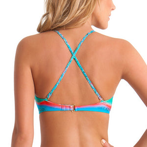 MERMAID GLITTER - Intertwine Scoop Halter Top