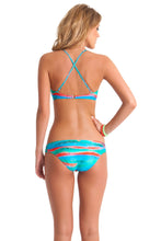 MERMAID GLITTER - Intertwine Scoop Halter Top & Intertwine Side Full Bottom • Multicolor