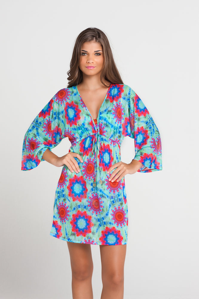 BEACH FEVER - Long Sleeve Tunic • Multicolor