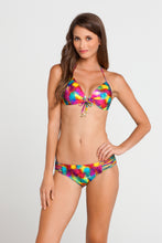 PLAYA CARAMELO - Molded Push Up Bandeau Halter Top & Multi Strings Full Bottom • Multicolor