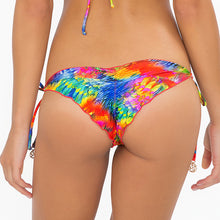 MUNDO DE COLORES - Wavey Ruched Back Brazilian Tie Side Bottom