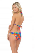 MUNDO DE COLORES - Triangle Halter Top & Full Ruched Back Bottom • Multicolor