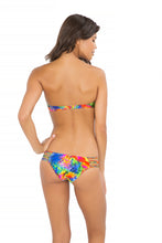 MUNDO DE COLORES - Underwire Push Up Bandeau Top & Hot Buns Bottom • Multicolor