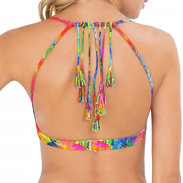 MUNDO DE COLORES - Tassel Back Bra Top