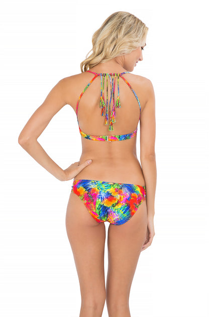 MUNDO DE COLORES - Tassel Back Bra Top & Braided Side Full Bottom • Multicolor