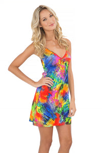 MUNDO DE COLORES - Tassel Back Mini Dress • Multicolor