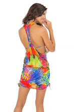 MUNDO DE COLORES - T Back Mini Dress • Multicolor