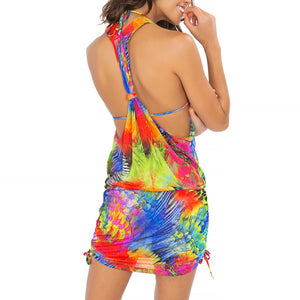 MUNDO DE COLORES - T Back Mini Dress