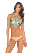 MIAMI NICE - Underwire Push Up Bandeau Top & Wavey Brazilian Tie Side Ruched Back • Miami Peach