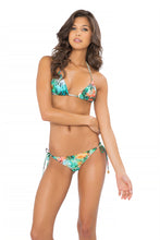MIAMI NICE - Triangle Top & Wavey Ruched Back Brazilian Tie Side Bottom • Multicolor