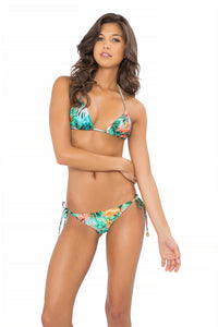 MIAMI NICE - Triangle Top & Wavey Ruched Back Brazilian Tie Side Bottom • Multicolor (865264140332)
