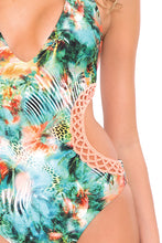 MIAMI NICE - Crochet Cut Out Monokini • Multicolor