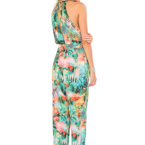 MIAMI NICE - Halter Long Jumpsuit