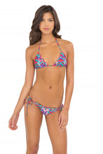 BESOS DE SAL - Wavy Triangle Top & Wavy Ruched Back Brazilian Tie Side Bottom • Multicolor