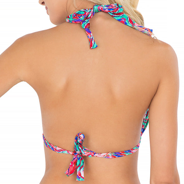 BESOS DE SAL - Triangle Halter Top