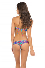 BESOS DE SAL - Strappy V Cut Out Bandeau Top & Strappy Cut Out Tiny Bottom • Multicolor