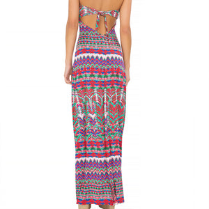 BESOS DE SAL - Strappy V Cut Out Maxi Dress