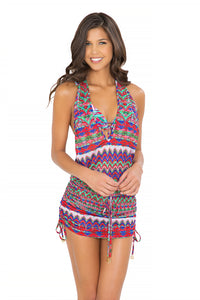 BESOS DE SAL - T Back Mini Dress • Multicolor