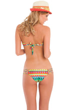 TULUM PARTY - Multi Strings Bandeau Top & Hot Buns Bottom • Multicolor