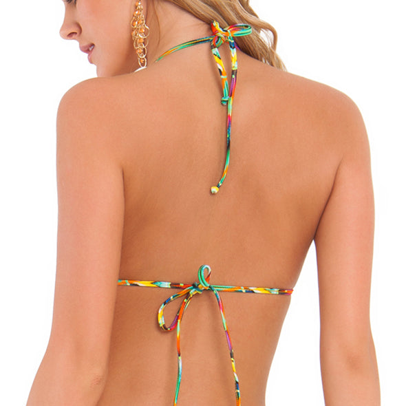TULUM PARTY - Molded Push Up Bandeau Halter Top