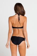 BURBUJAS DE AMOR - Cascade Push Up Underwire Top & Multi Strings Full Bottom • Black