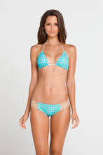 BURBUJAS DE AMOR - Triangle Top & Multi Strings Full Bottom • Aqua