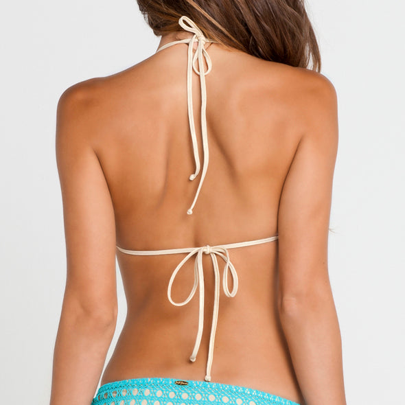 BURBUJAS DE AMOR - Molded Push Up Bandeau Halter Top