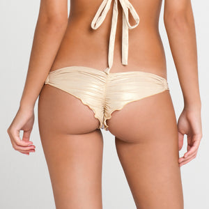 BURBUJAS DE AMOR - Multi Strings Brazilian Ruched Back Bottom