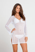 BURBUJAS DE AMOR - Plunge Dress • White