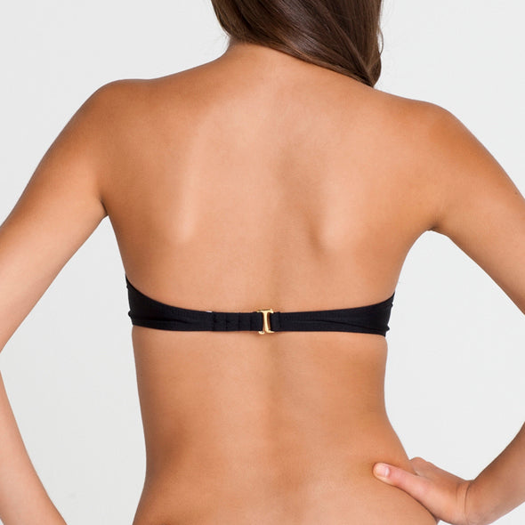 PASION Y ARENA - Ruched Underwire Push Up Bandeau Top