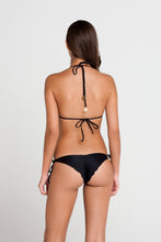 PASION Y ARENA - Triangle Top & Wavey Ruched Back Brazilian Tie Side Bottom • Black