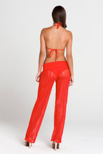 PASION Y ARENA - Molded Push Up Bandeau Halter Top & Poolside Pants • Luli Red