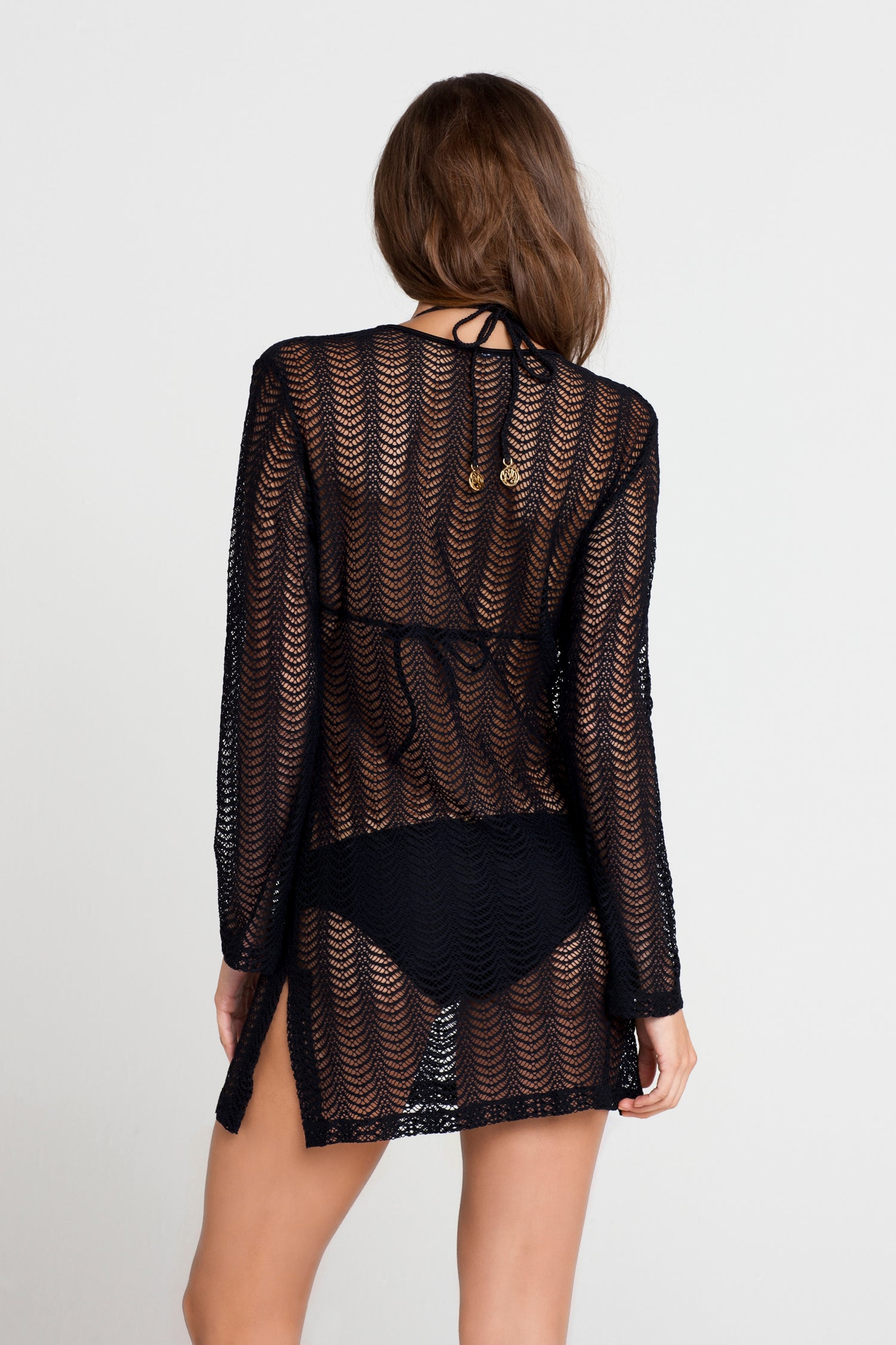 PASION Y ARENA - Plunge Dress • Black