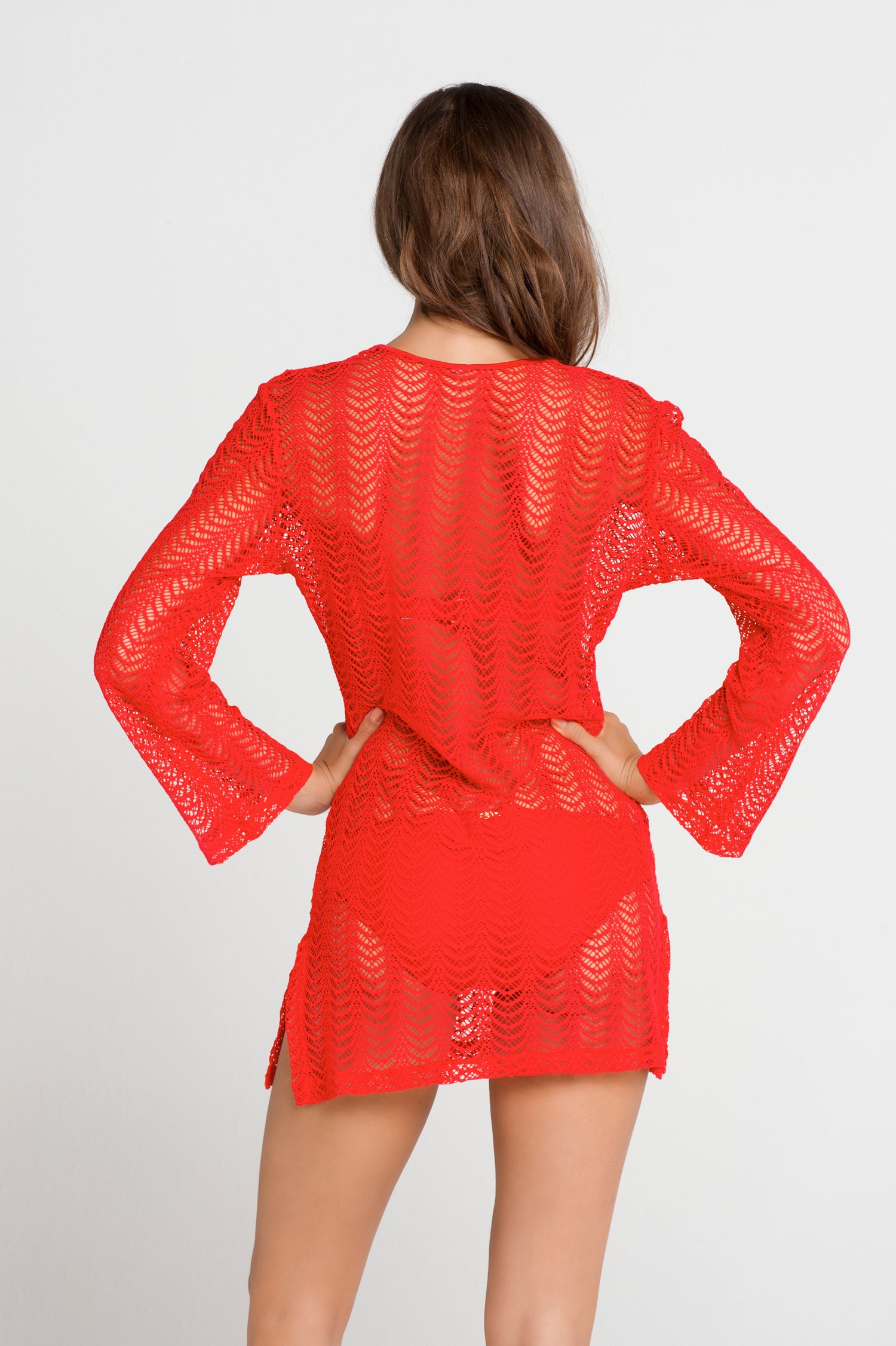 PASION Y ARENA - Plunge Dress • Luli Red