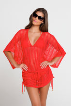 PASION Y ARENA - Cabana V Neck Dress • Luli Red