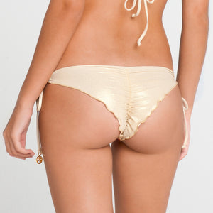 LA FAMA - Wavey Ruched Back Brazilian Tie Side Bottom