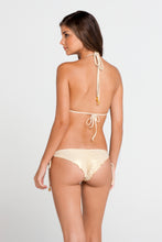 LA FAMA - Triangle Top & Wavey Ruched Back Brazilian Tie Side Bottom • Multicolor