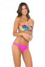 CLANDESTINA - Underwire Push Up Bandeau Top & Multi Strap Ruched Brazilian • Too Hot Miami
