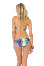 CLANDESTINA - Seamless Plunge Underwire Push Up Top & Multi Strings Full Bottom • Multicolor