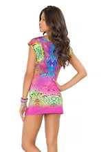 CLANDESTINA - Short Sleeve Bodycon Dress • Multicolor