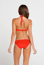 COSQUILLITAS - Plunge Push Up Fringe Underwire Top & Braided Side Full Bottom • Scarlet