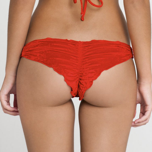 COSQUILLITAS - Multi Braid Brazilian Ruched Back Bottom (843211997228)