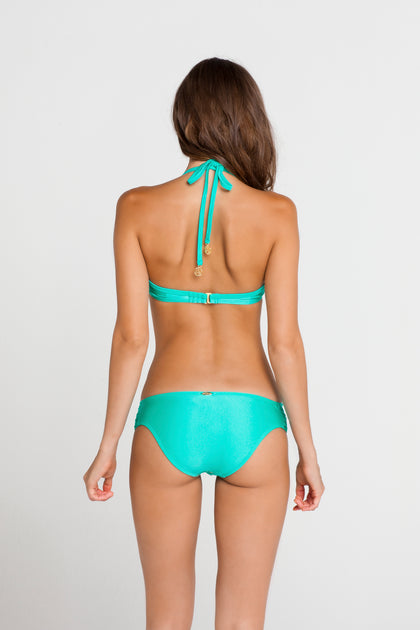 SABOR A MENTA - Cascade Push Up Underwire Top & Full Scrunch Side Lace Bottom • Sexy Siren