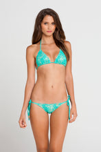 SABOR A MENTA - Triangle Top & Wavey Ruched Back Full Tie Side Bottom • Sexy Siren