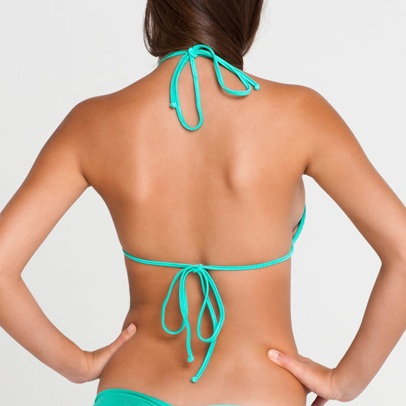 SABOR A MENTA - Molded Push Up Bandeau Halter Top