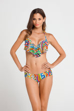 SAMBA CARACOL - Cascade Push Up Underwire Top & Scrunch Side Full Bottom • Multicolor